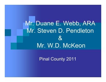 2011 pinal county land value survey by location - Arizona Society of ...