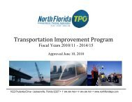 TIP FY 2010/11 - 2014/15 - North Florida TPO