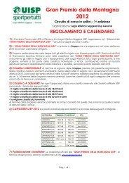 Gran Premio della Montagna UISP - Genova di corsa