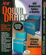 downdraft table or booth - ADF Systems