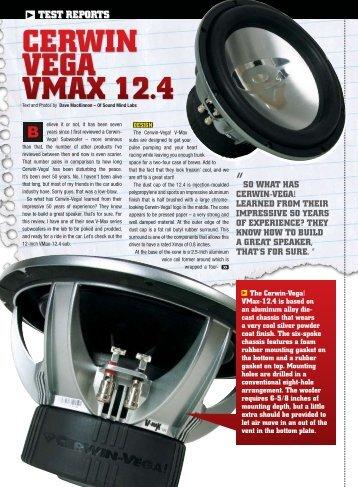 TEST REPORT, Cerwin Vega VMAX 12.4 PASMAG - woofertester.com