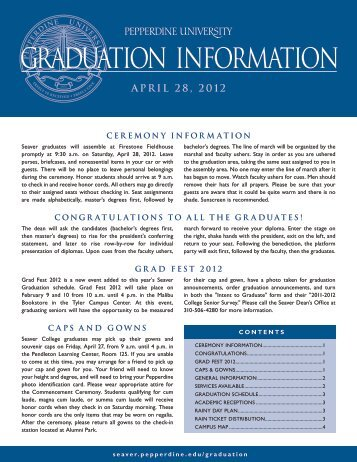 GRADUATION INFORMATION - Pepperdine University