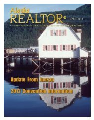 2012 April Newsletter - Alaska Association of Realtors