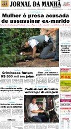 Mulher é presa acusada de assassinar ex-marido - Jornal da Manhã