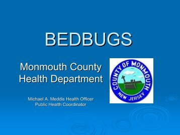 Bedbugs - Presentation - Monmouth County