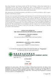 NOTICE OF LISTING ON THE STOCK EXCHANGE OF HONG ...