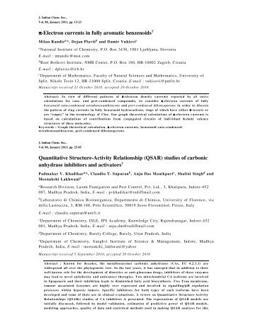 Abstracts of Journal of Indian Chemical Society Vol.88, January ...