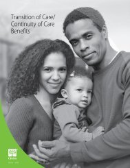 Transition of Care/ Continuity of Care Benefits - Risk Management
