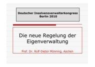 Die neue Regelung der Eigenverwaltung - bei Mönning und Georg ...
