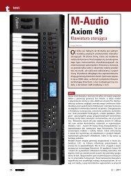 Czytaj test klawiatury sterującej Axiom 49 vII - Music Info