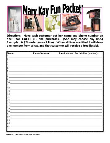 Mary Kay Fun Packet - Chatney
