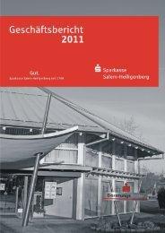 Jahresabschluss - Sparkasse Salem-Heiligenberg