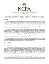 gossypol effects in animal feeding can be controlled - National ...