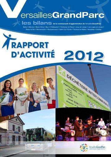 Rapport d'activité 2012 - Ville de Versailles