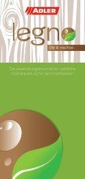 Broschüre Legno Öle & Wachse - ADLER - Lacke