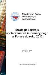 Strategia rozwoju społeczeństwa informacyjnego w Polsce do roku ...