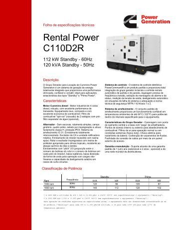Rental Power C110D2R - Cummins Power Generation