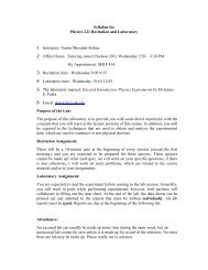 Syllabus for Physics 221 Recitation and Laboratory 1 Instructor ...
