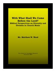 With What Shall We Come Before the Lord? - Baptist Theology