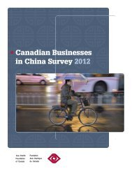 Canadian Businesses in China Survey 2012 - Asia Pacific ...