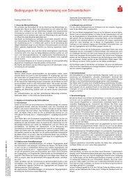 Bedingungen für die Vermietung von Schrankfächern