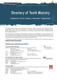 Directory of YM Summary 08.indd - Archdiocese of Brisbane