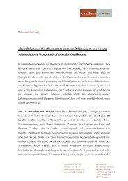 Pressemitteilung Abwechslungsreiches Rahmenprogramm mit ...