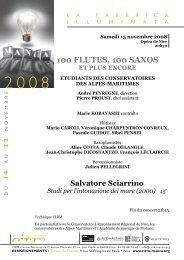 100 FLUTES, 100 SAXOS - Cirm