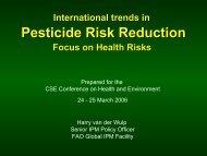 Pesticide Risk Reduction - Rainwater Harvesting