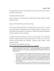 Council Minutes Tuesday, April 21, 2009 - City of St. John's