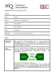 Kurzprofil IQMG-Partner: Beratungsunternehmen - IQMG Institut für ...