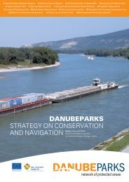 DANUBEPARKS Strategy on ConServation and navigation