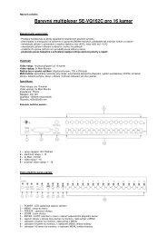 Barevný multiplexer SE-VQ162C pro 16 kamer