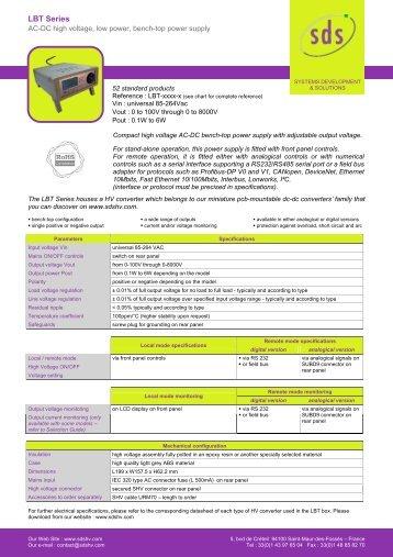 More info on LBT series power supplies