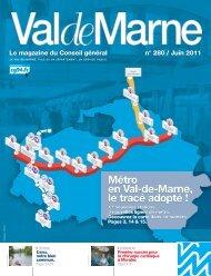 ValdeMarne n°280 / Juin 2011 - Conseil général du Val-de-Marne