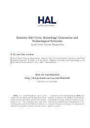Industry Life Cycle, Knowledge Generation and Technological ...