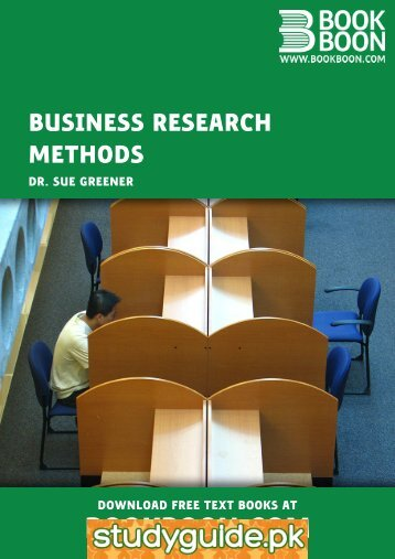 Business Research Methods - StudyGuide.PK