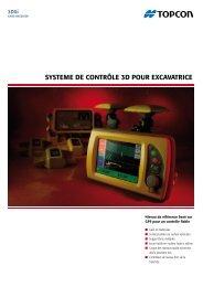 SYSTEME DE CONTRÔLE 3D POuR EXCAVATRICE - Topcon ...