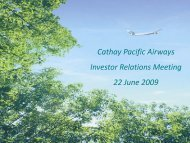 Cathay Pacific Airways 2008 Annual Results 11 March 2009 Cathay ...