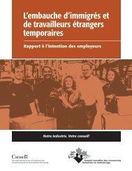 L'embauche d'immigrés et de travailleurs étrangers temporaires