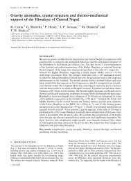 Gravity anomalies, crustal structure and thermo-mechanical support ...