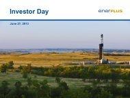 Investor Day Presentation - Enerplus