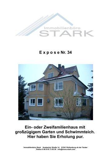 E x p o s e Nr. 34 Ein- oder Zweifamilienhaus mit ... - Immo-Stark
