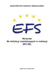 Wytyczne dla instytucji uczestniczących w realizacji SPO RZL