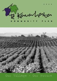 Te Kauwhata Community Plan.FH10 - Waikato District Council