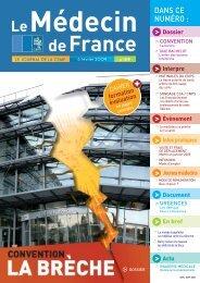 Médecin de France n°1119 - 30 janvier 2009 - CSMF
