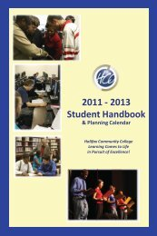 2013 Student Handbook - Halifax Community College