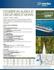 croisière en alaska et circuit mers et monts - Voyages à rabais