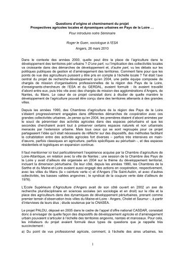 Introduction du Colloque PALDU - Vintage