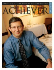 Achiever Winter_Covers 4WEB - University of Maryland University ...